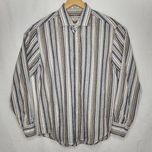 Bugatchi Shirts - Bugatchi Uomo XL Striped Long Sleeve Dress Shirt